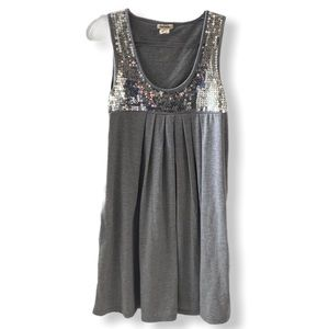 Love Rocks With Pockets Gray Sequined Tank Top
